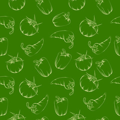 Vegetable pattern - green.