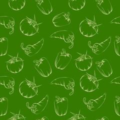 Vegetable pattern - green.