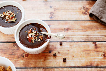 soft chocolate pudding