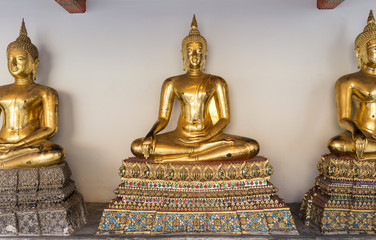 Picture of Buddha statue at Wat Pho. Bangkok, Thailand.