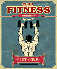 Vintage Fitness Gym conception de l'affiche