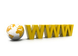 Www with world. Internet concept.
