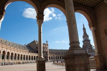 Plaza de España arcos