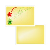 Yellow Greeting Card of Saint Patrick Day