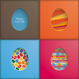 4 Easter Eggs Holes