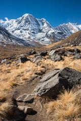 Mt.Annapurna South, Annapurna Himal, Nepal.