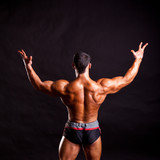 young bodybuilder posing