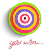 Dartboard. Success target, market concept. Traced from original