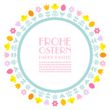 Easter Meadow Frame Retro
