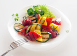 Veggie Healthy vegetarian cuisine of roasted vegetables