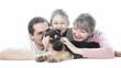 happy family of three human