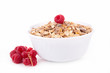 bowl of cereals and berry