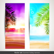 Vector set of summer holiday vertical banners