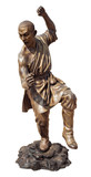 Shaolin warriors monk bronze statue in Viharn Sien Temple