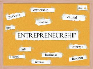 Entrepreneurship Corkboard Word Concept