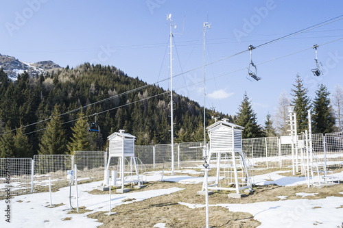 Weather station in the mountains