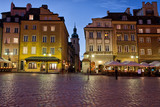 Old Town of Warsaw in the Evening