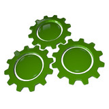 Gear Wheel - Green & White