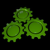 Gear Wheel - Green & Black