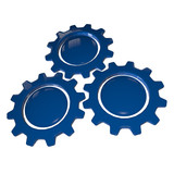 Gear Wheel - Blue & White