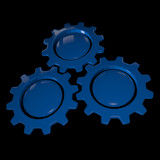 Gear Wheel - Blue & Black