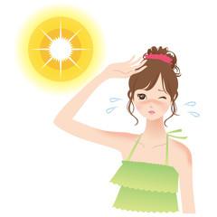 女性 日差し 紫外線