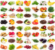 Leinwanddruck Bild - Collection of fresh fruits and vegetables