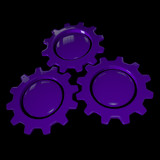 Gear Wheel - Purple & Black