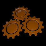 Gear Wheel - Orange & Black