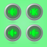 Green color sound button