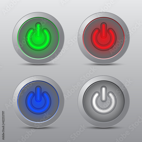Colorful Power Button