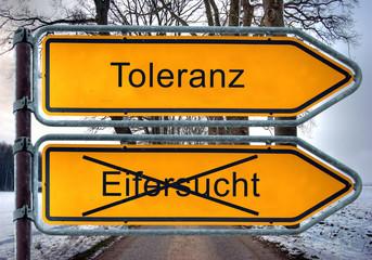 Strassenschild 4 - Toleranz