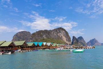 Fischerdorf in Thailand