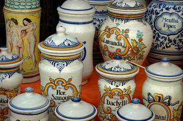 Frascos de porcelana