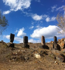 old ancient armenian stones
