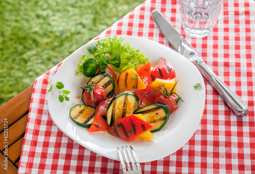 Healthy country roasted vegetables, veggy food