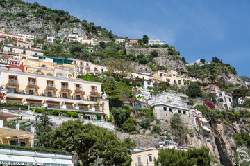 Balconies on Homes Over Positano