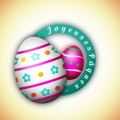 Joyeuses Pâques - Illustration vectorielle