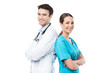 Male doctor and female nurse - 62256954