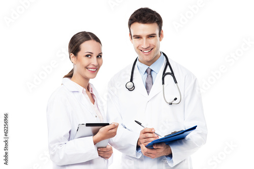 Female and male doctors