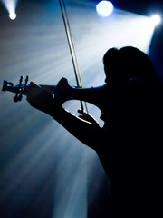 violin player during concert
