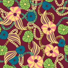 Botanic Floral pattern seamless - Illustration
