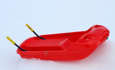 bob made of robust plastic on snow and steel brake