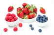 fresh berries - strawberries, raspberries and blueberries