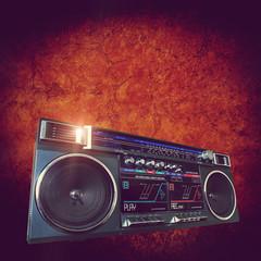 retro boom box