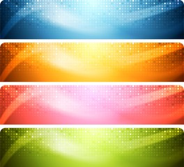 Abstract shiny banners