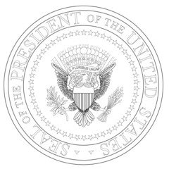 President Seal Outline