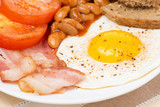 Traditional English breakfast, close-up