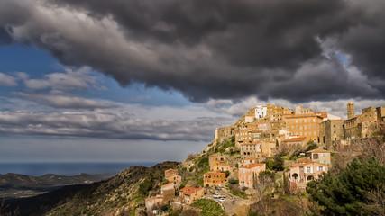 Village of Speloncato in the Balagne region of Corsica