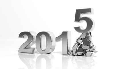 The new year 2015 is coming